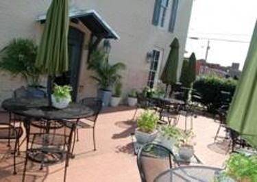 the patio outside