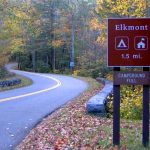 photo shows a road sign that reads 'elkmont'